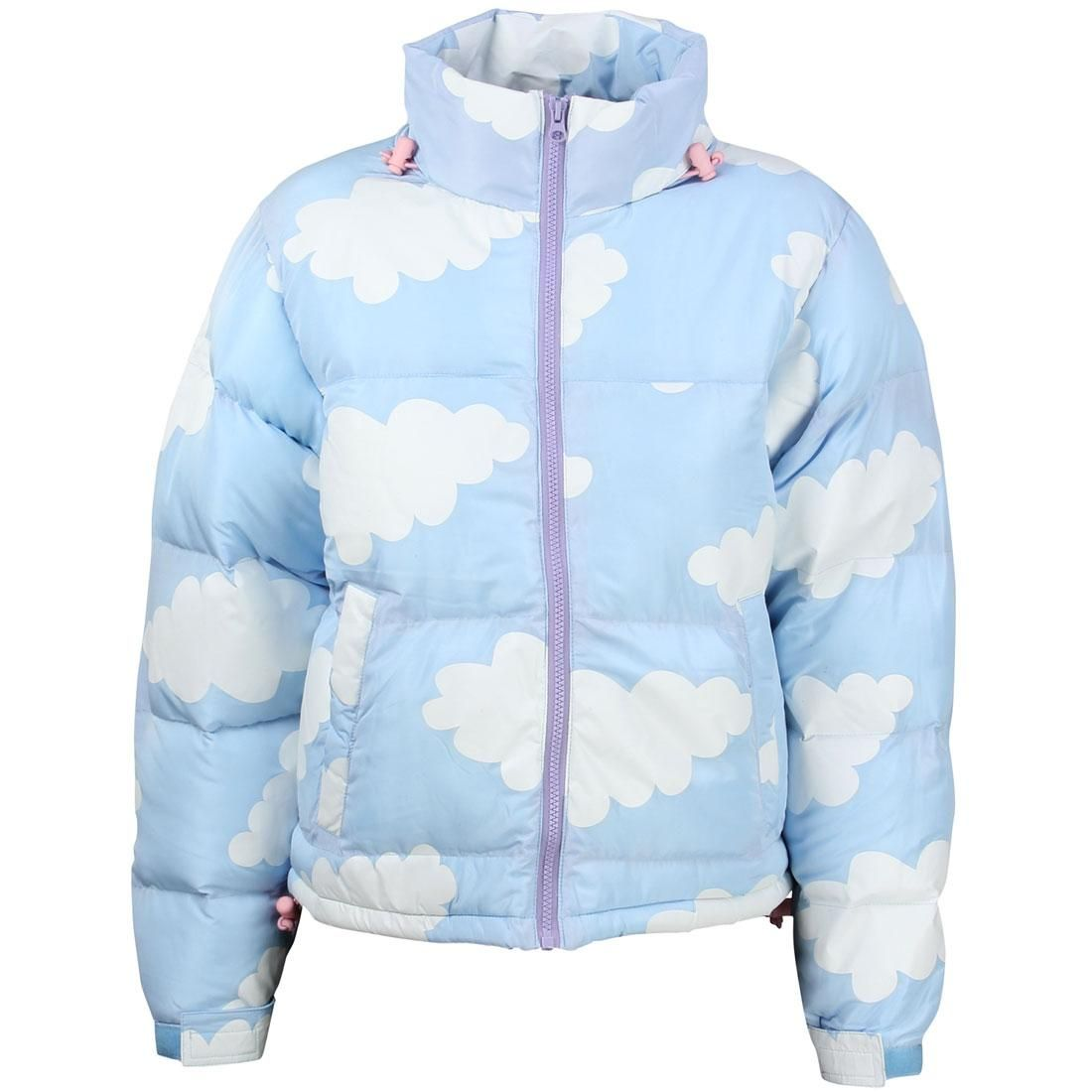 Lazy Oaf - Women's cloud print puffer jacket $199 USD