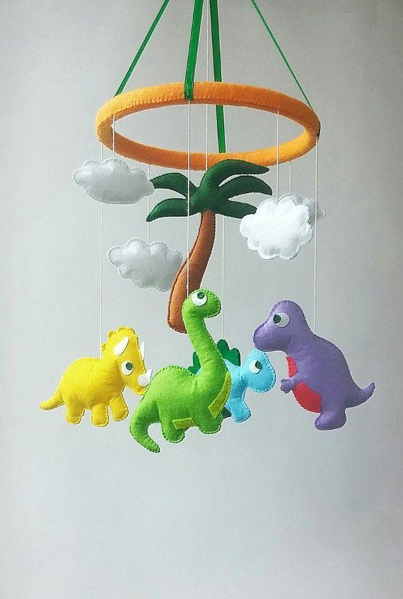 Photo of Dinosaur baby crib mobile nursery decor felt mobile hanging mobile baby shower gift …