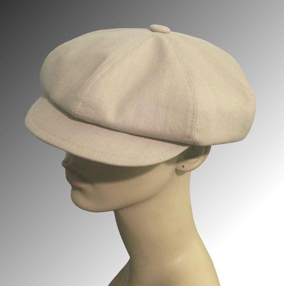 619e3c0e5a375 Summer Cotton Cap Khaki or Brown Bakerboy Paperboy Newsboy Hat Vintage Men  Women Bespoke Bowie Gatsby Large XL Any Size…
