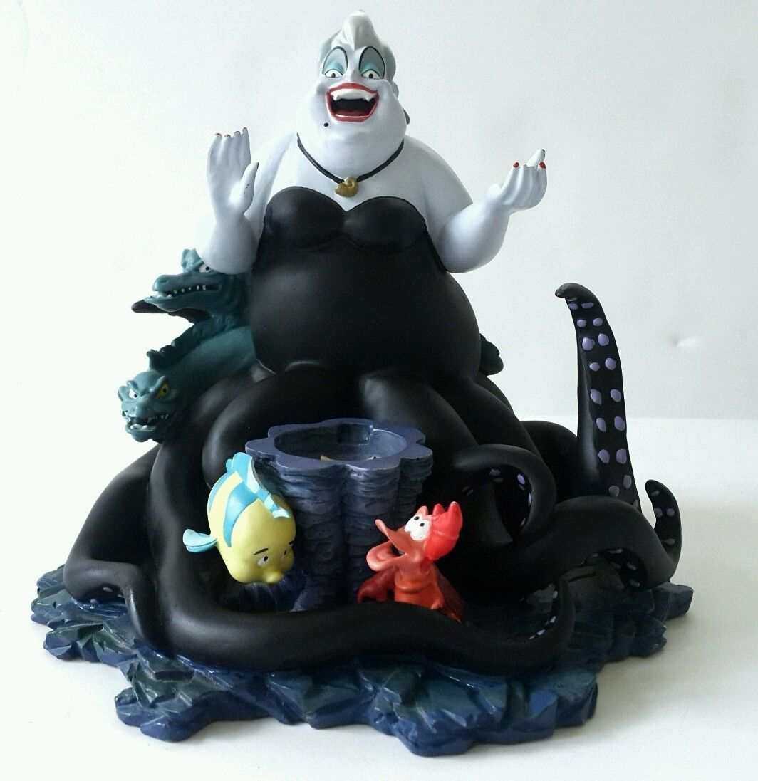 Snowglobe is not included. You can easily see Ariel's contract revealed beneath snowglobe's stand. Disney The Little Mermaid Villianss Ursula. The Little Mermaid characters Ursula, Flounder and Sebastian. | eBay!