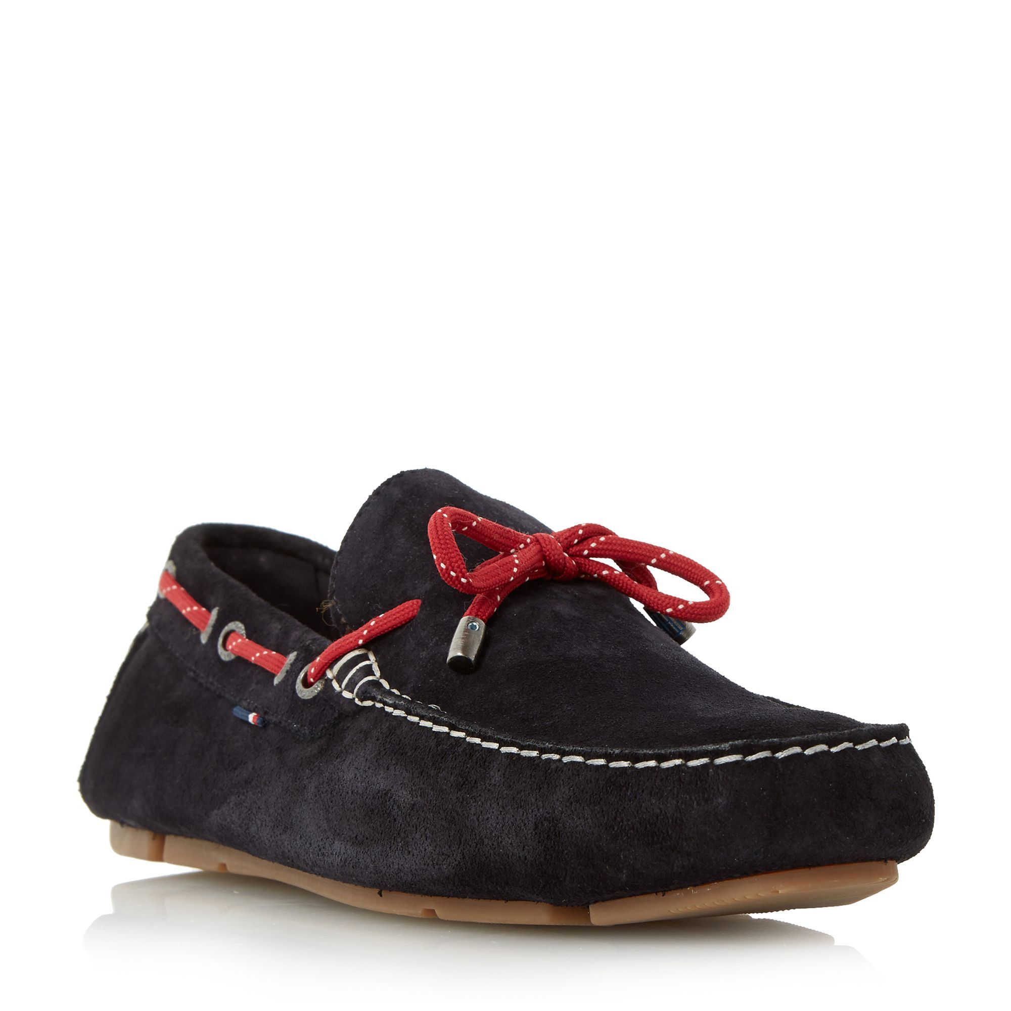Tommy Hilfiger Monte 3b suede lace up driver loafers, Navy