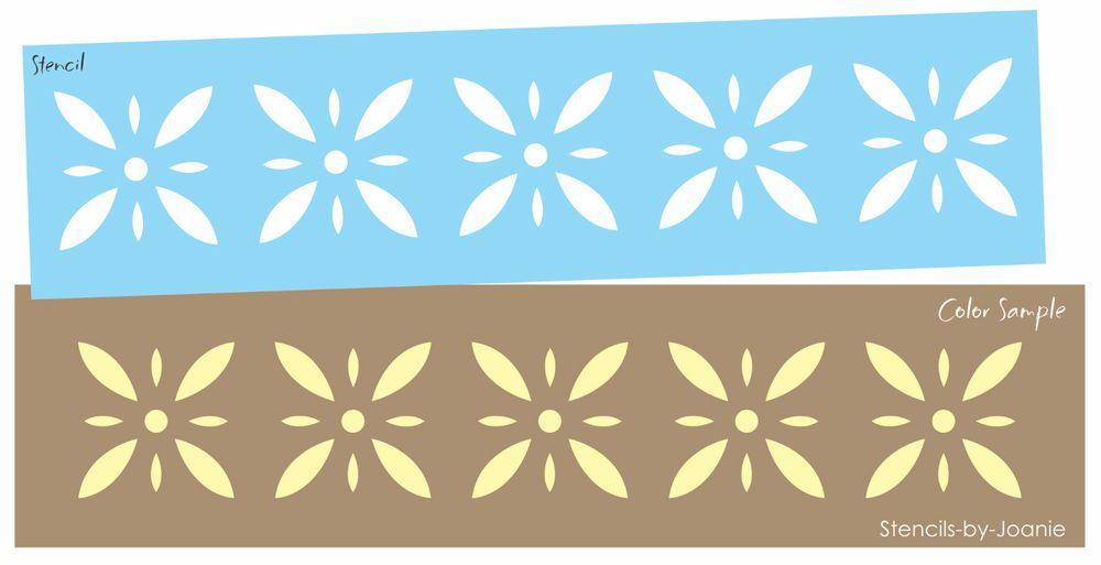 Colonial Prim Stencil Starburst Diamond Flower Folk Art Country