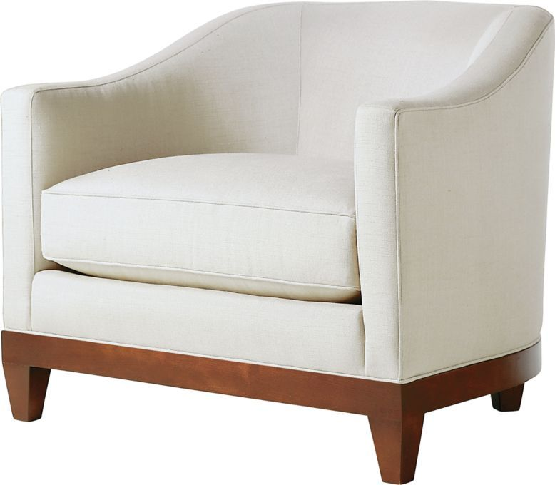 large tub chair costco cushions a larger inspired by examples from the 1930s tight back over loose seat rounded hardwood banding square tapered legs