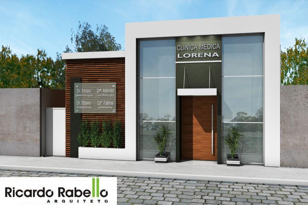Fachada projetada cl nica m dica lorena sp inspira o for Fachadas apartamentos modernos