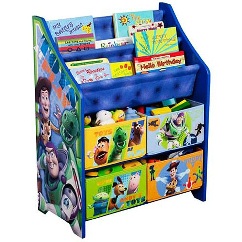 Toy Story Book And Toy Organizer I Want This For My Sons Room When He Doesn T Have To Share A Room With His Toy Story Bedroom Toy Story Room Toy