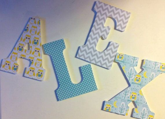 nursery room letters baby name letters boys by deesdazzledesigns