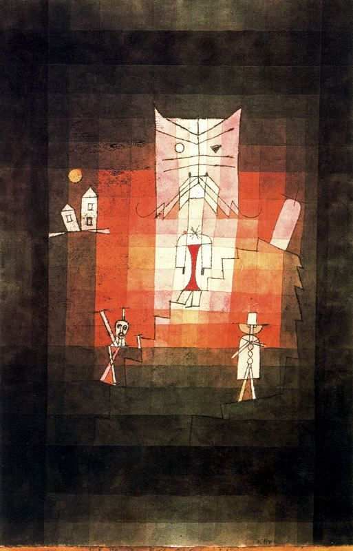 The Mountain of the Sacred Cat   Paul Klee