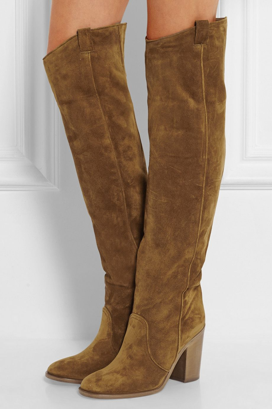 1ec77bfd89478 Laurence Dacade | Silas suede over-the-knee boots | NET-A-PORTER.COM ...