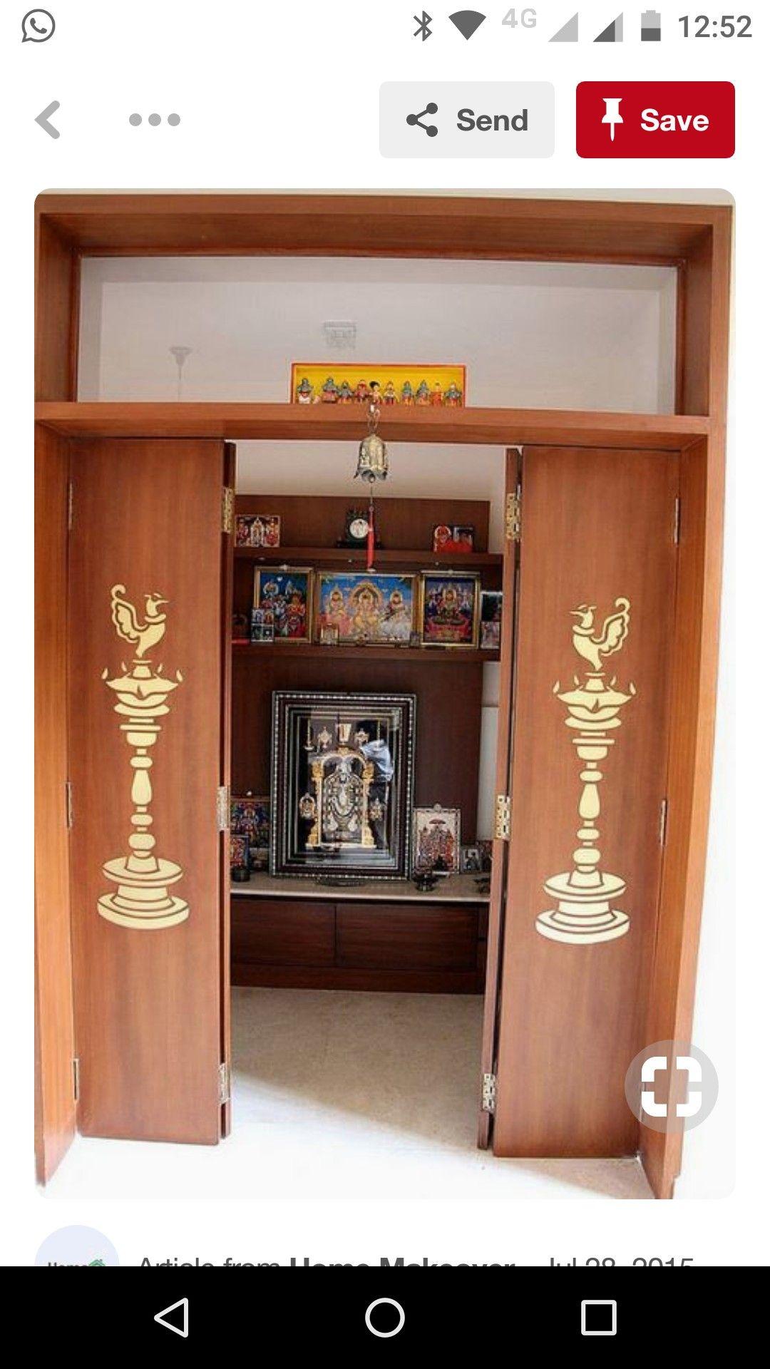 Pooja Room Designs For Flats: Pin By Yogitha Kiran On Pooja Rooms