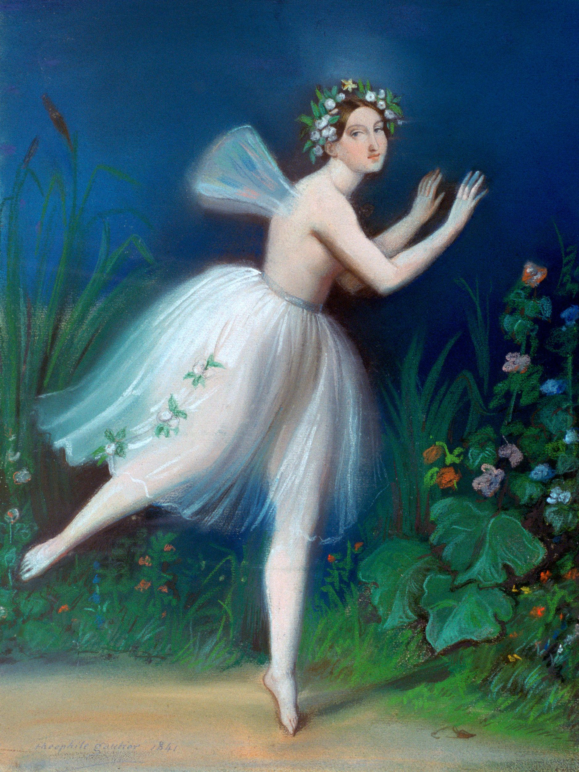 Portrait Of Carlotta Grisi In Giselle In This Popular Ballet The
