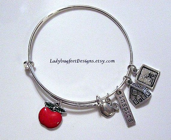 Teacher S Istant Adjule Bangle Alex N By Ladybugfeetdesigns Charm Bracelet Subsute