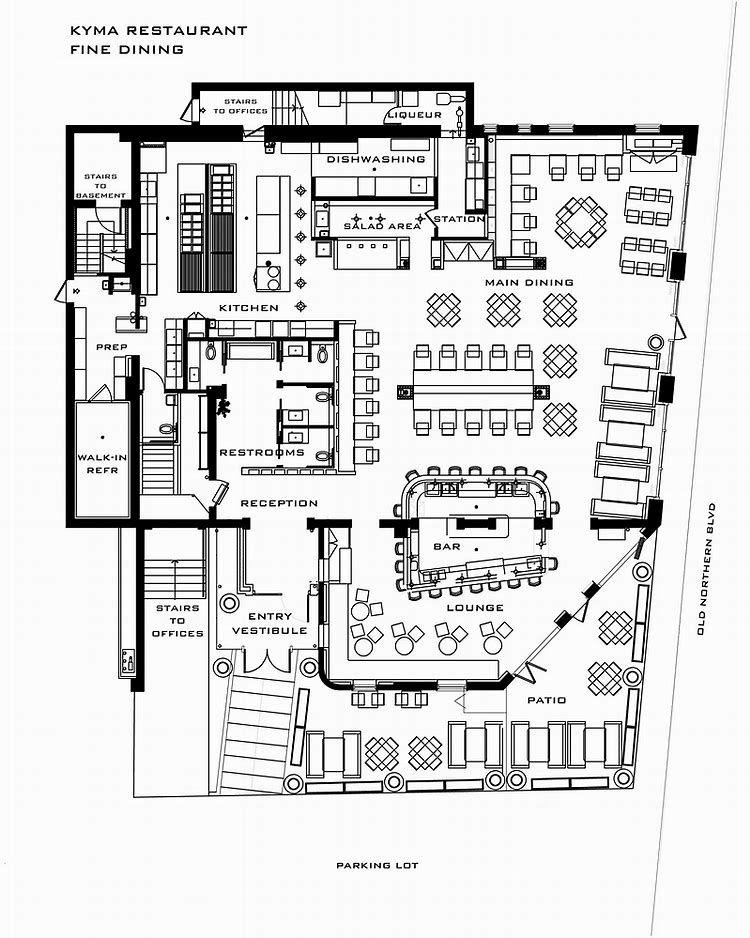 Resultado de imagen de Restaurant Floor Plan Layout