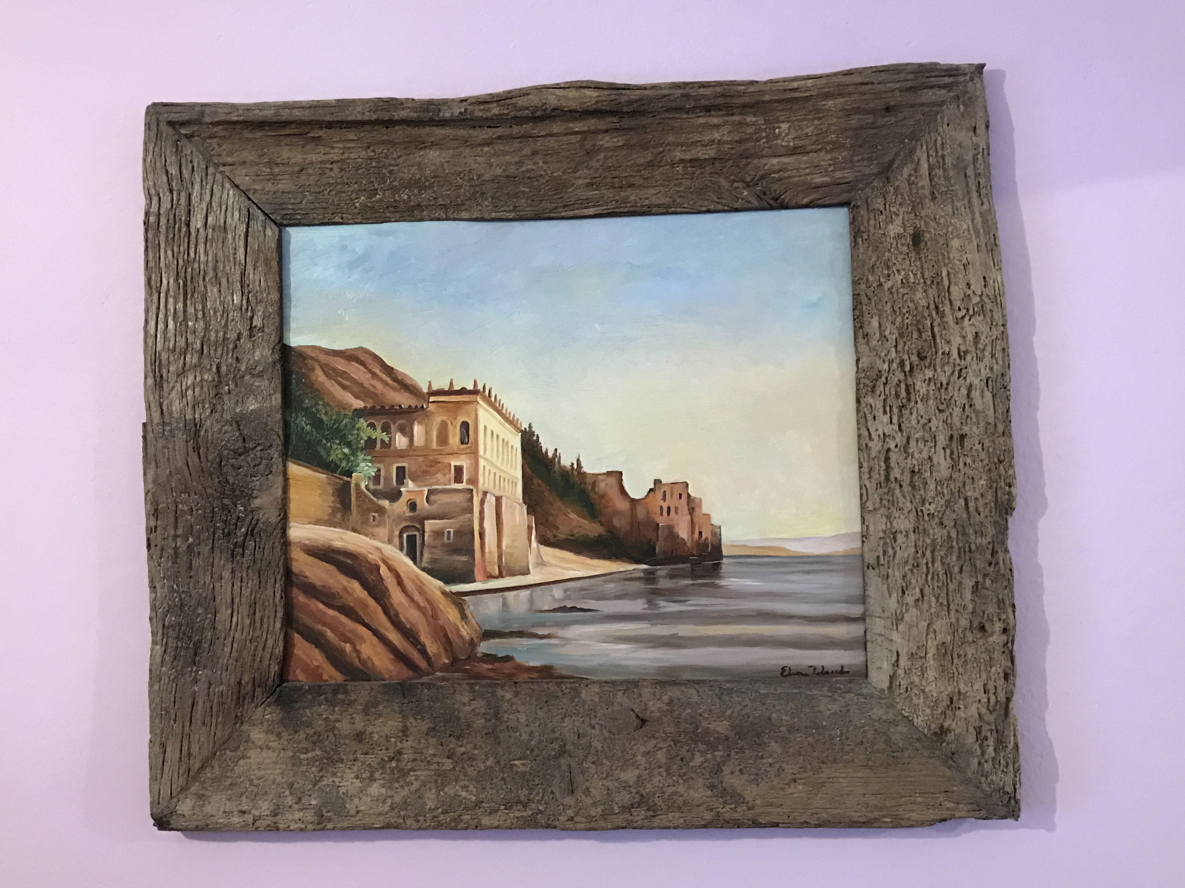 Landscape, Italia, oil paint