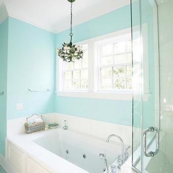 Tiffany Blue Paint Colors Contemporary Bathroom Sherwin