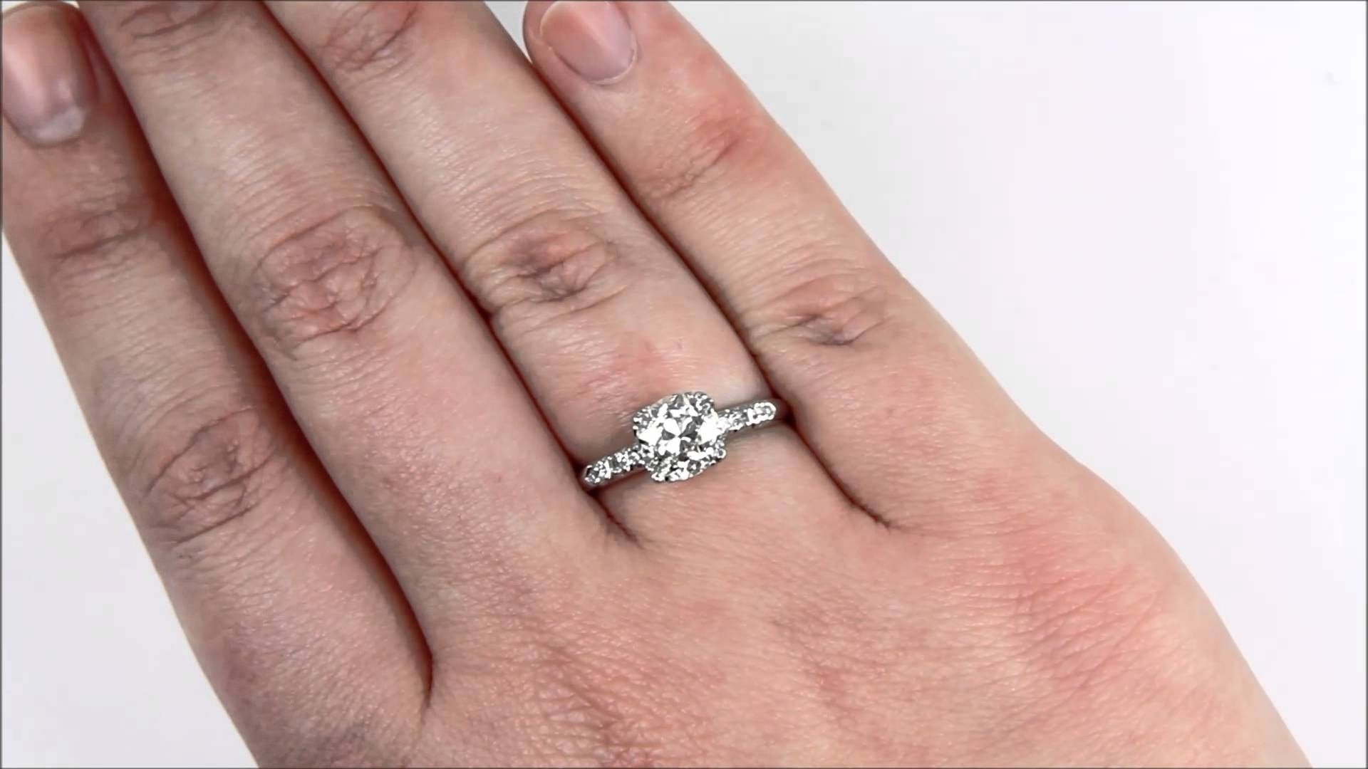 2 Carat Diamond Solitaire Engagement Ring Platinum | Ring ...