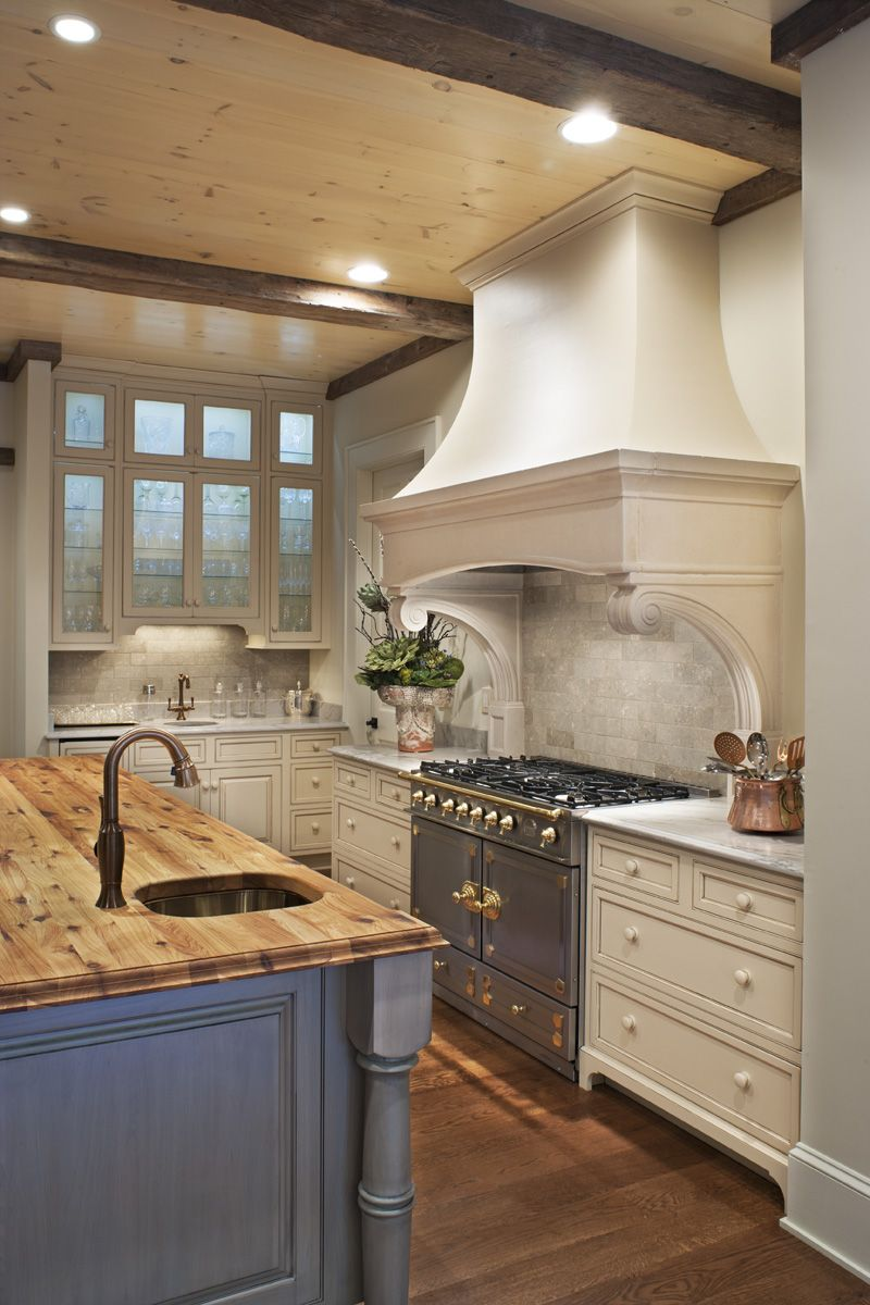Traditional Kitchen Country French Custom Hood Grey Cabinets White Cabinets Kitchen Custom Cabinets Traditional Kitchen