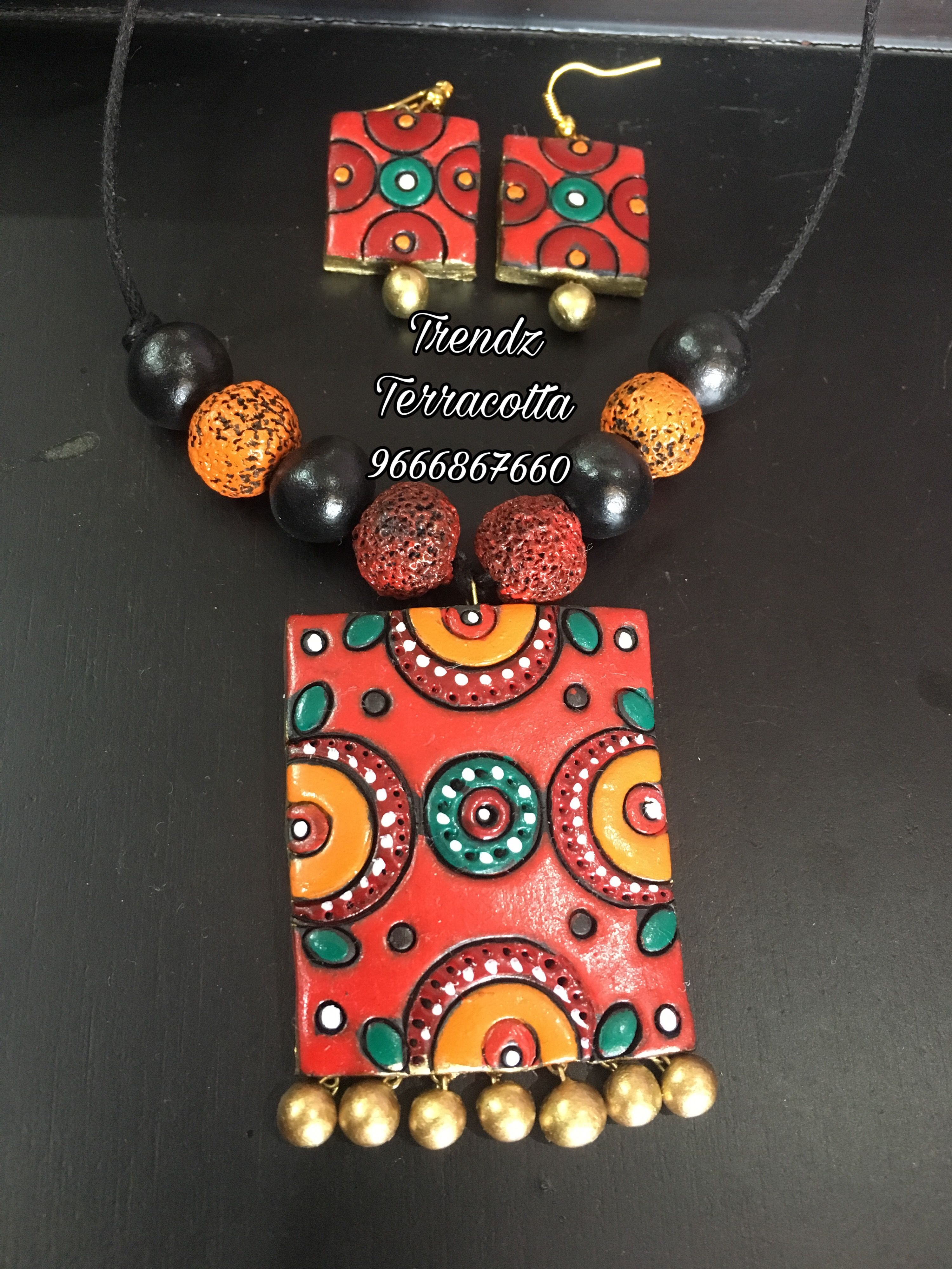 Terracotta Jewellery Https M Facebook Com Trendzbyjayamehta Terracotta Jewellery Making Handmade Jewelry Designs Terracotta Jewellery Designs