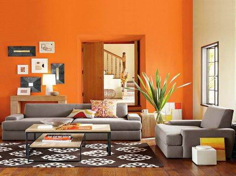 Orange Living Rooms Living Room Paint Color Living Room Paint Color With Orange Wall