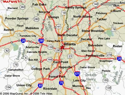 Atlanta Mood Pictures Complex Transportation Network IA Studio - Atlanta georgia mapquest