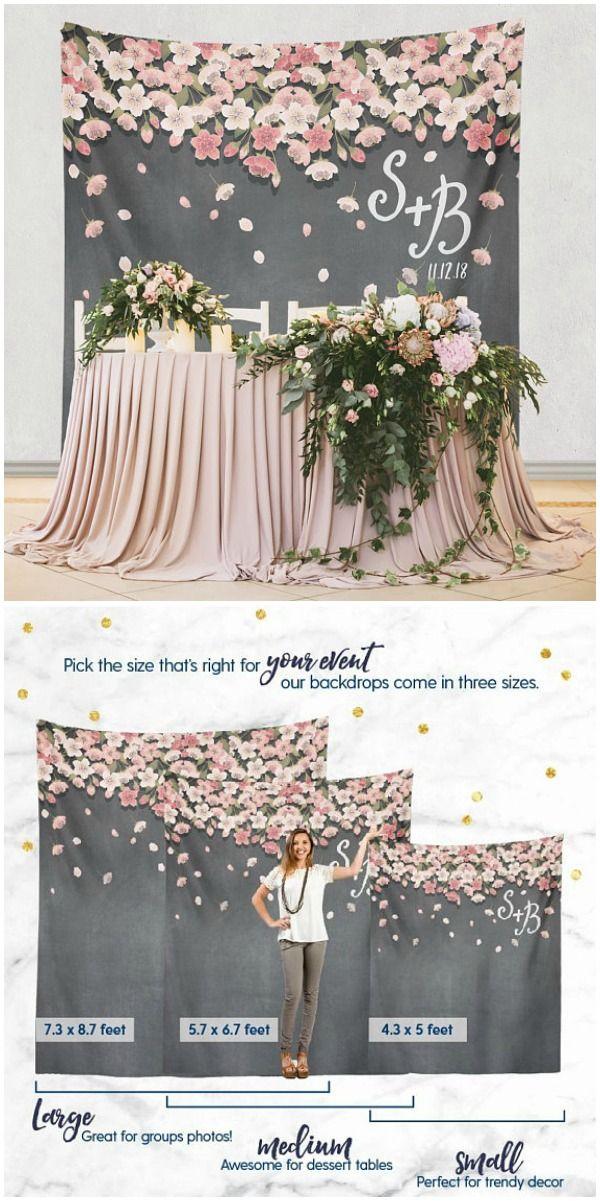 Cake Table Backdrop, Floral Backdrop Digital Chalkboard Wedding Backdrop Bridal Shower Backdrop
