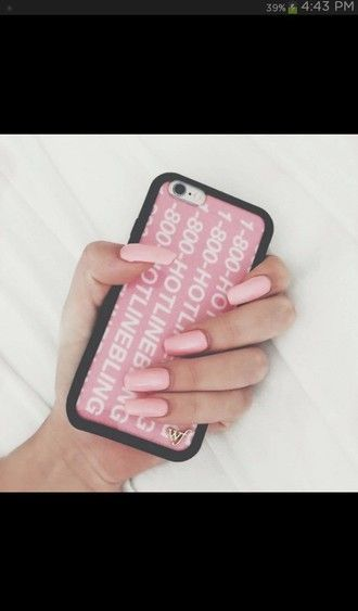 on sale b2bfd 1e2a9 phone cover hotline bling drake pink iphone case   Cases in 2019 ...