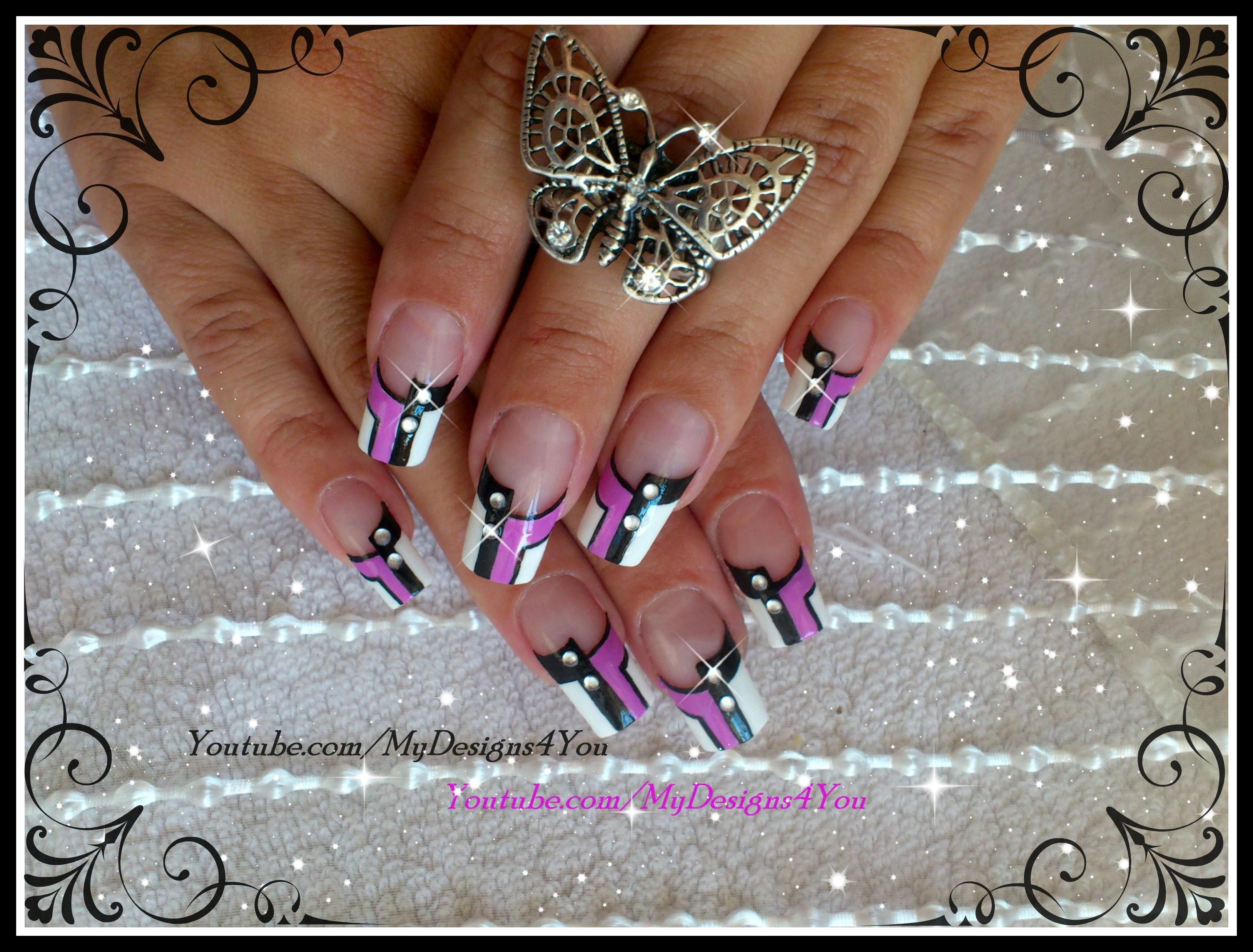 Lavender Monochrome Nail Art By Mydesigns4you Nails Lavendernails