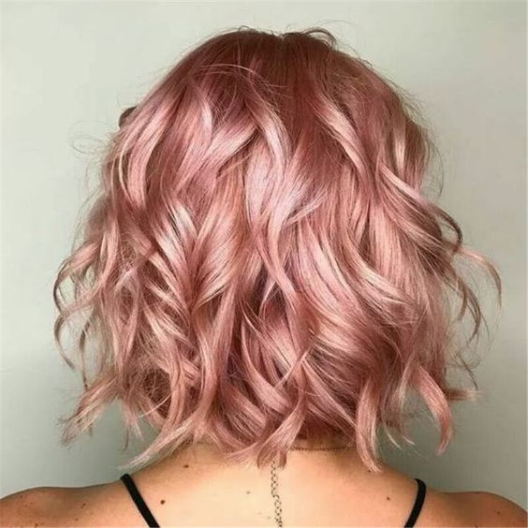 50 Pretty And Stunning Rose Gold Hair Color Hairstyles For Your Inspiration Page 31 Of 50 Women Fashion In 2020 Hair Styles Hair Color Rose Gold Pink Ombre Hair
