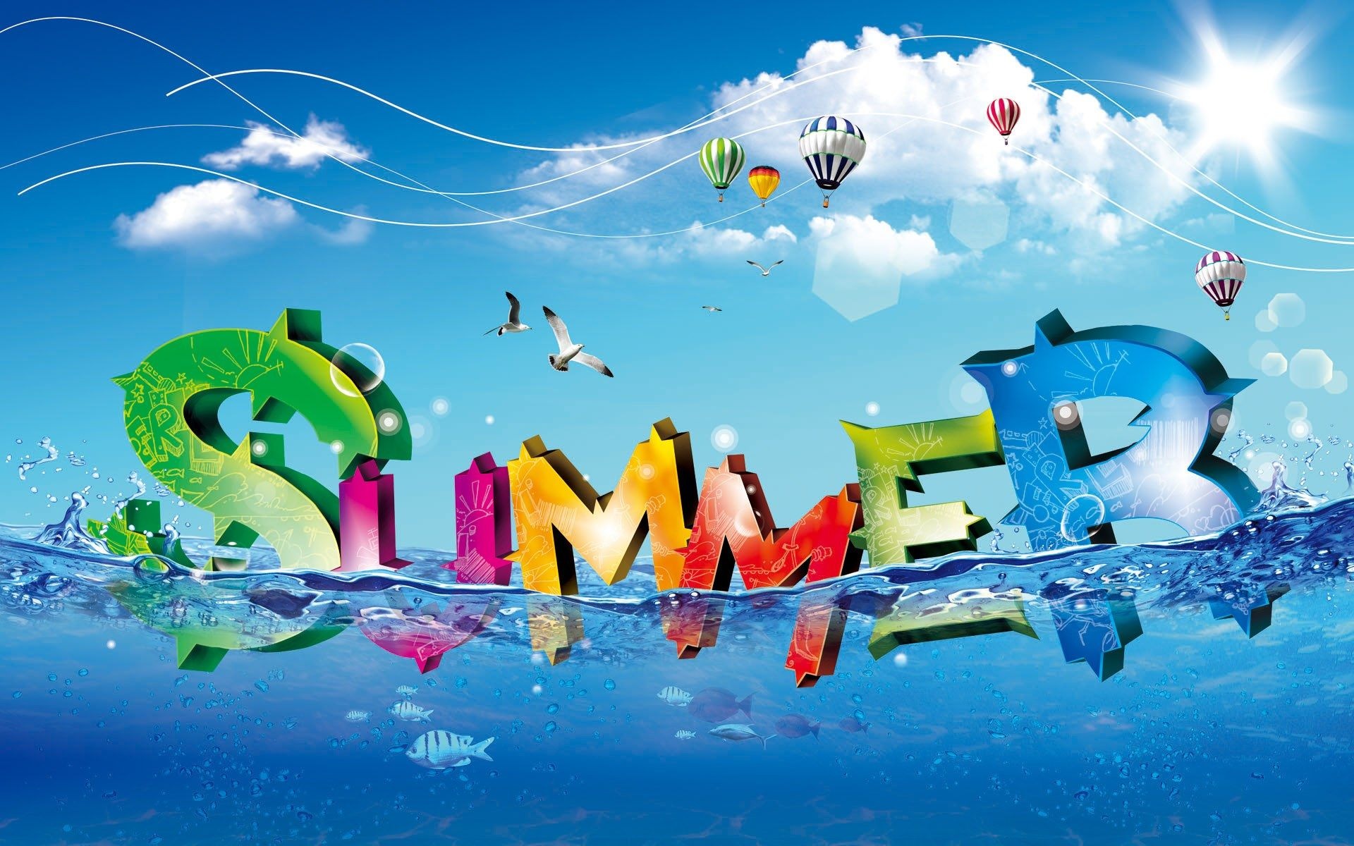 Summer Wallpapers for Interior Design Ideas Wide Summer Wallpaper