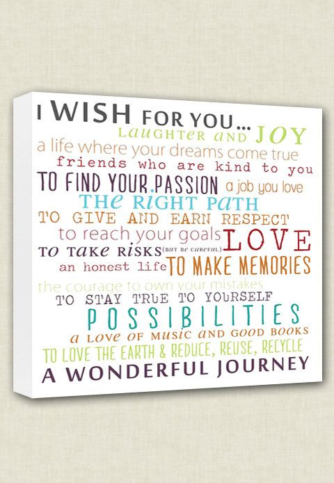Wish For Child Nursery Canvas Word Wall Art By GeezeesCustomCanvas, $75.00