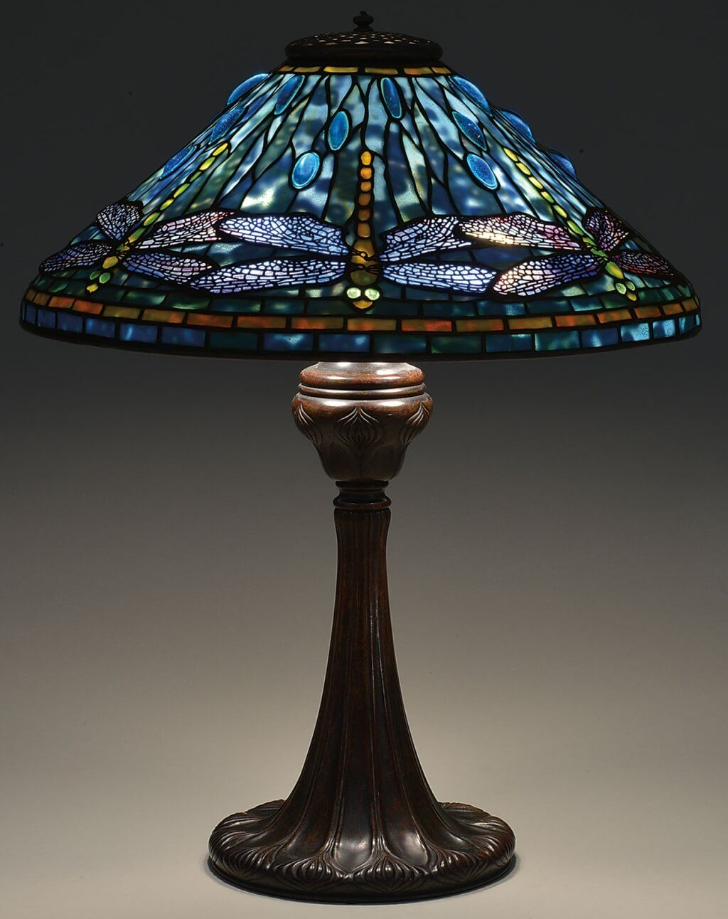 Adorable Blue Tiffany Lamps For Sale With Dragonfly Shade Design