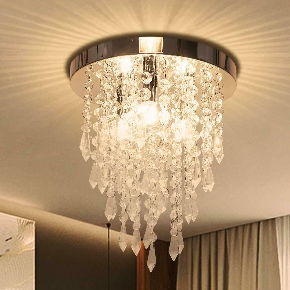 Crystal Chandelier Kakanuo Modern Crystal Ceiling Light 3 Lights Flush Mount C Kakanuo Crystalcha Modern Ceiling Light Ceiling Lights Crystal Ceiling Light
