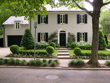 Traditional exterior photos painted brick design ideas - Colonial house exterior renovation ideas ...