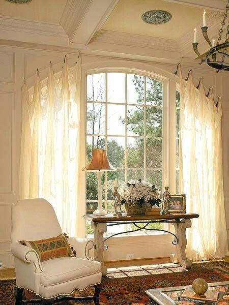Large Windows Don T Always Need Large Treatments Curtains For Arched Windows Arched Window Treatments Window Treatments Bedroom