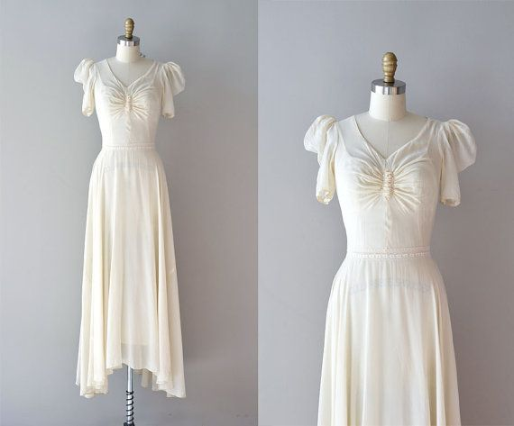 1930s wedding dress / vintage 30s dress / One Thousand Times Yes ...
