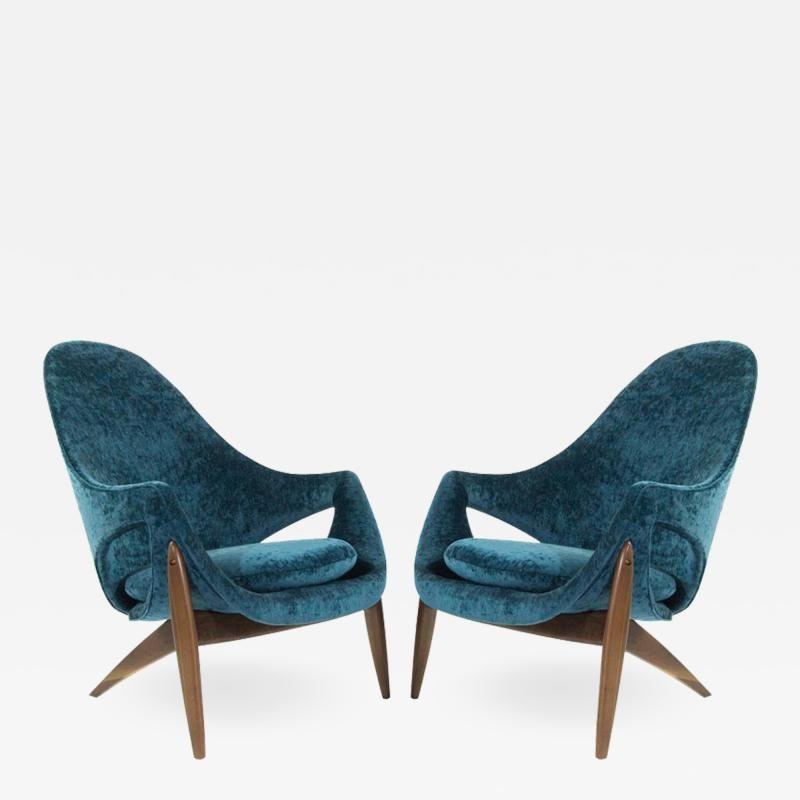 Luigi Tiengo Exceptional Lounge Chairs By Luigi Tiengo For Cimon