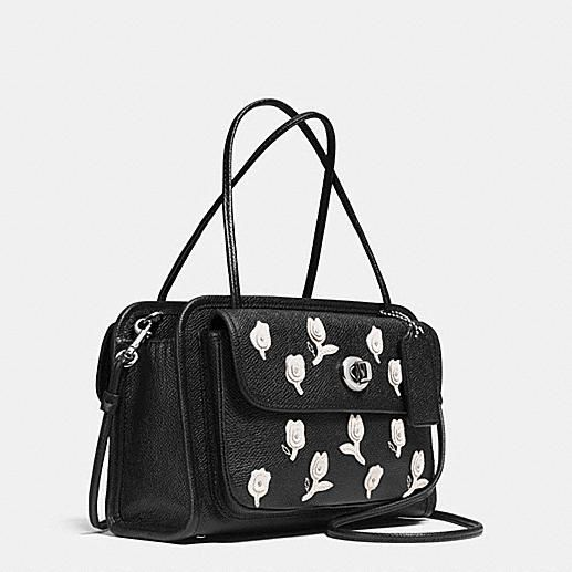 CADY CROSSBODY IN FLORAL APPLIQUE LEATHER/coach