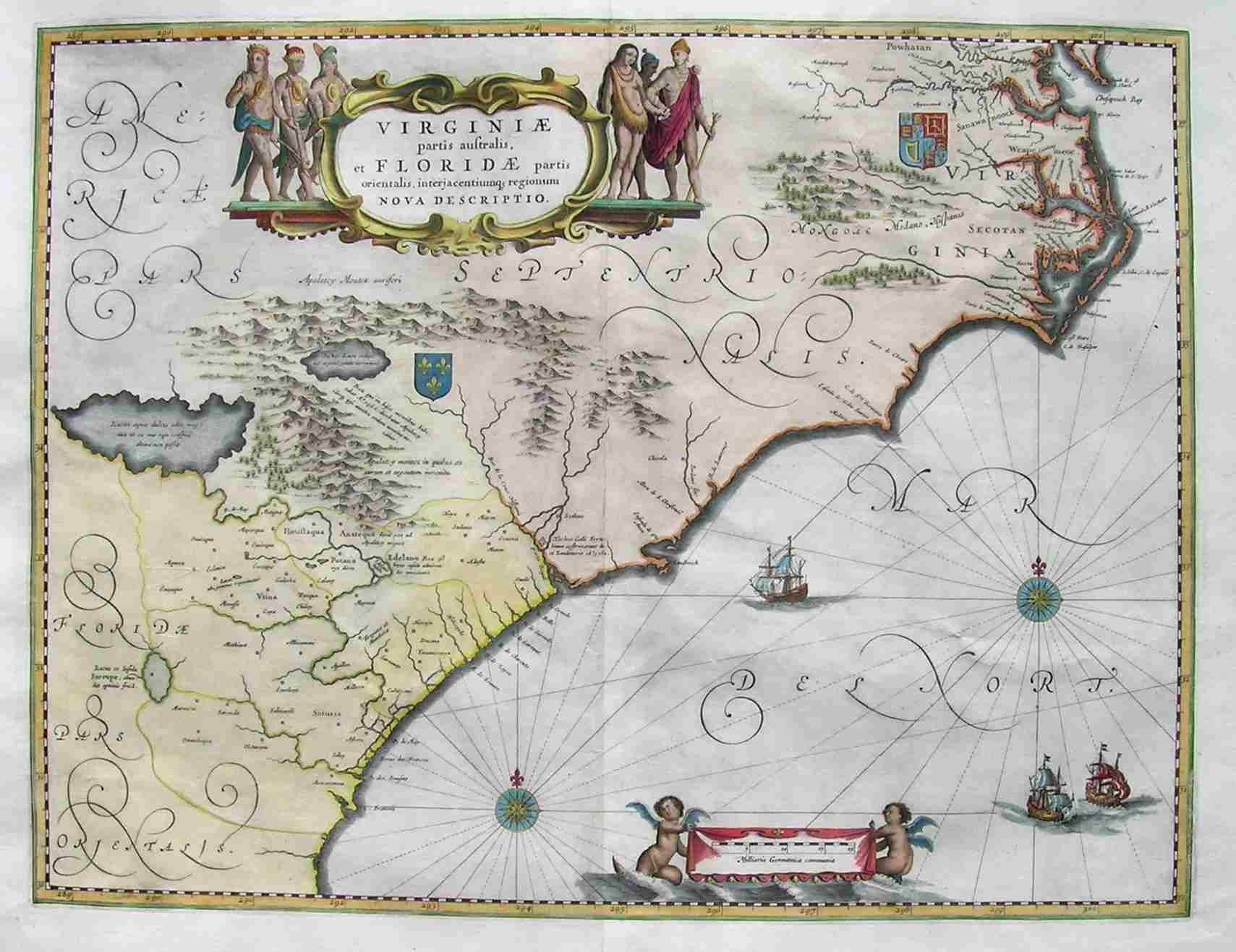 FLORIDACAROLINASVIRGINIA Maphouse Antique Maps Michael - Antique maps amsterdam