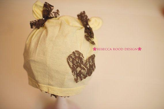 Baby Bonnet by RebeccaRoodDesign on Etsy, $25.00