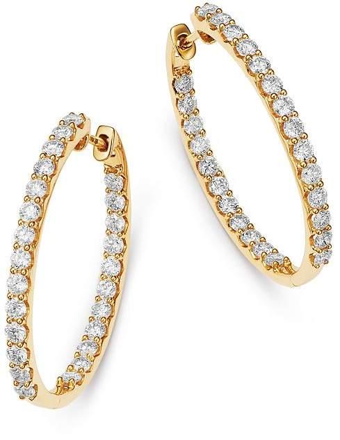 2fbcfd19de61bb Bloomingdale's Diamond Inside Out Oval Hoop Earrings in 14K Yellow Gold