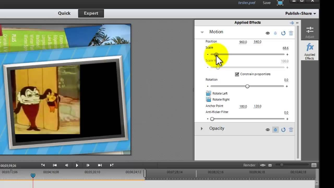 Scale Position And Rotate Video In Adobe Premiere Elements 11 Video Editing Photo And Video Youtube