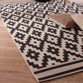 tapis 100% polypropylène effet sisal tissé motifs losanges ... - Axe Design Meuble