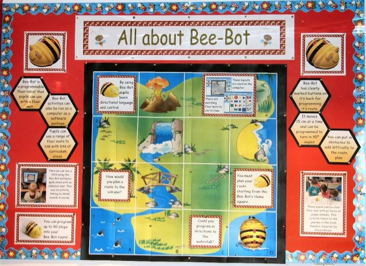 bee bot instruction cards
