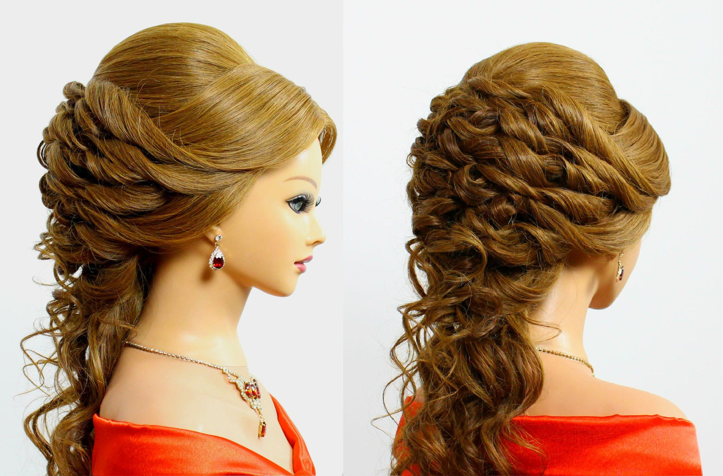 hairstyles for medium long hair. bridal wedding hairstyles. | Школа