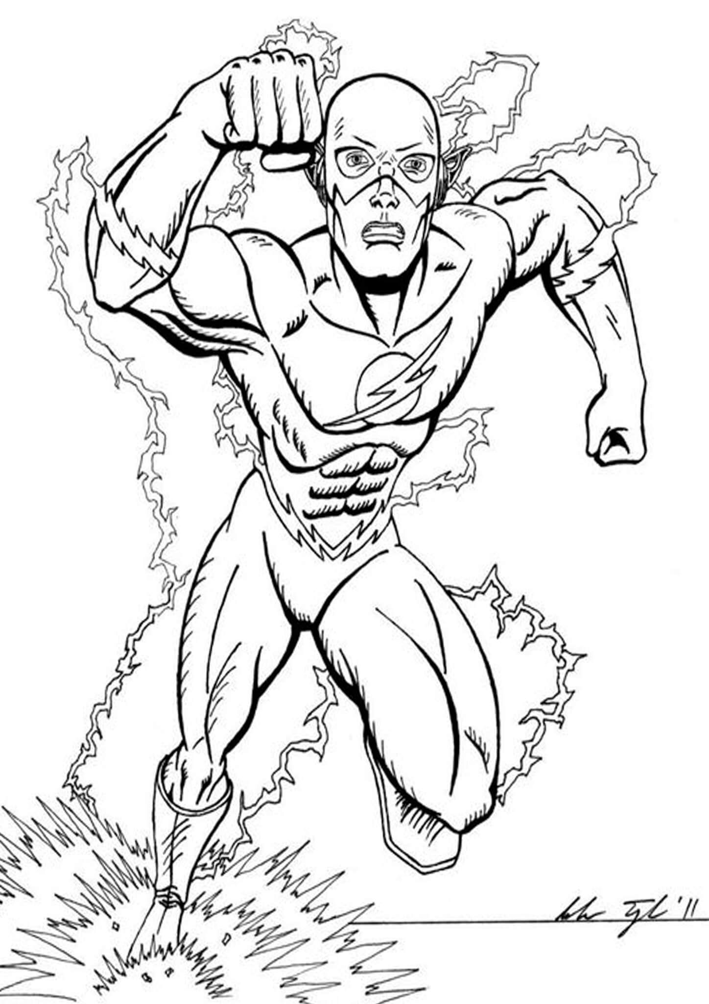 Free & Easy To Print Flash Coloring Pages | Superhero ...
