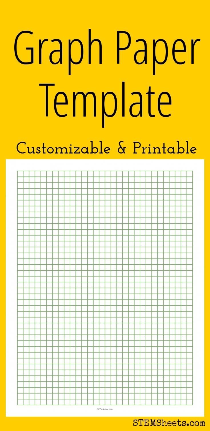 Graph Paper  Customizable And Printable  Diy Inspiration