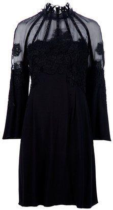 ShopStyle: Alberta Ferretti Lace detail dress