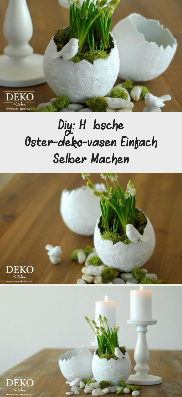 Diy Hubsche Oster Deko Vasen Einfach Selber Machen Table