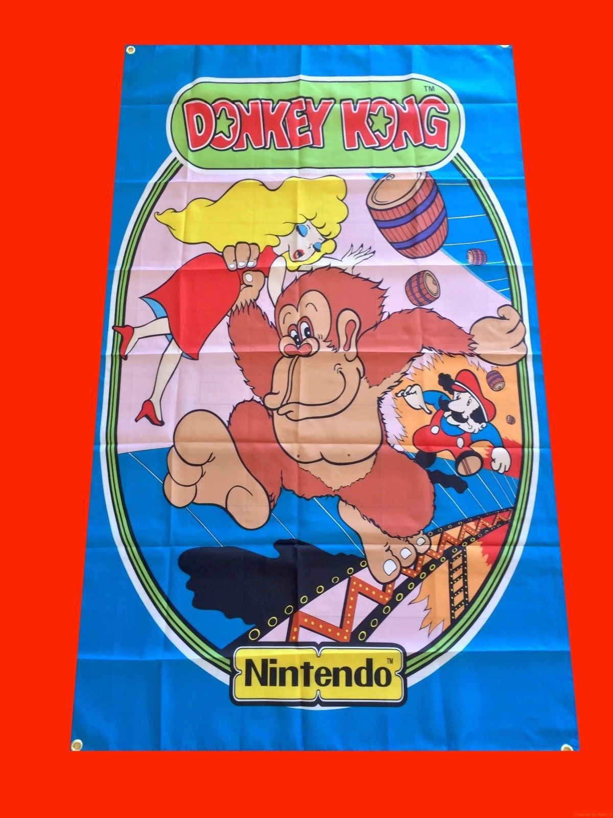 Details about LARGE Donkey Kong Arcade Video Game Banner