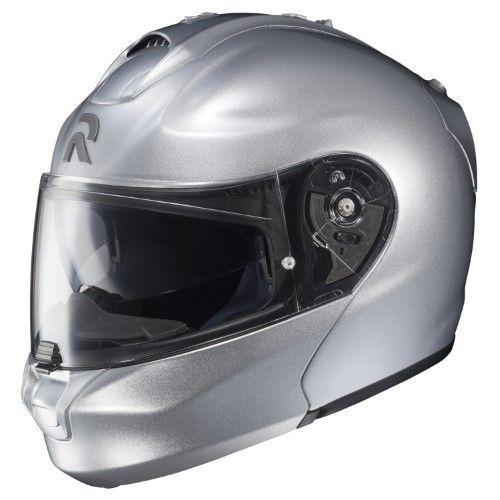 d64b0cbf HJC Solid Rpha MAX Modular Helmet Single Shield with Pinlock Pins, Silver