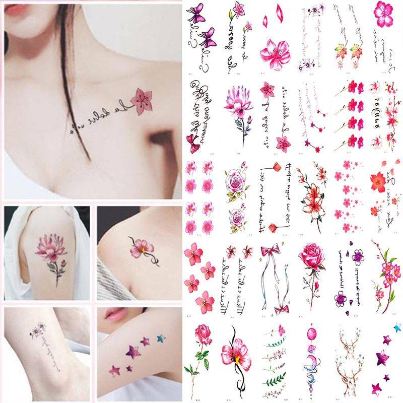 Temporary Armband Tattoos Waterproof Temporary Tattoo Sticker Flower Lotus Tattoo Sleeve Women Wrist Arm Sleeves Tatoo Fake Girl Temporary Tattoos Aliexpre In 2021 Sleeve Tattoos For Women Tattoo Stickers Tattoo Kits